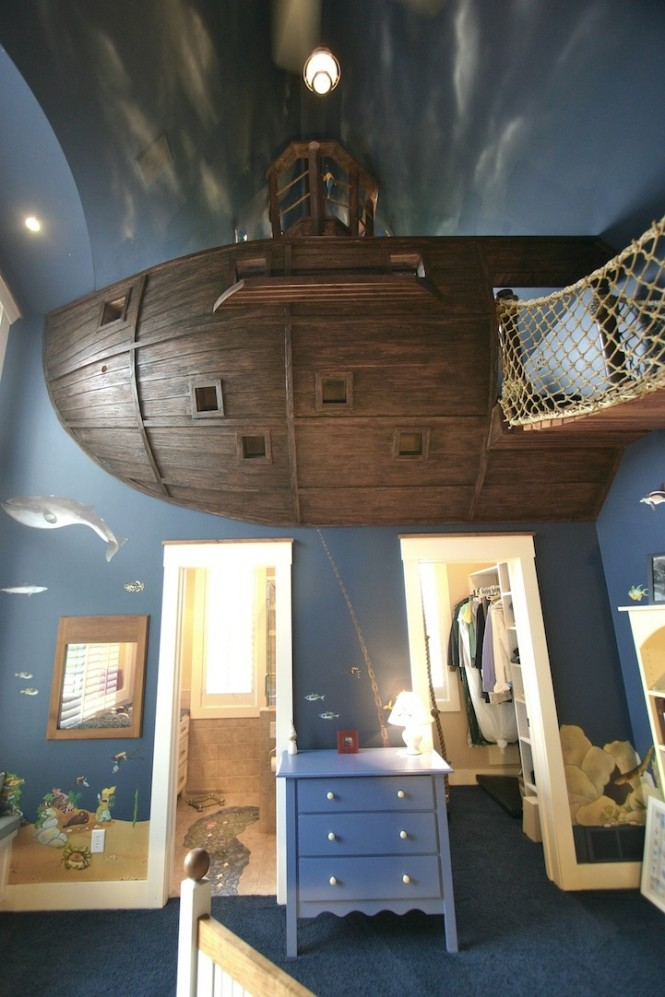 11 Pirate Ship Theme Bedroom 665x997