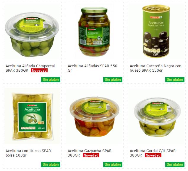 Productos Sin Gluten Spar