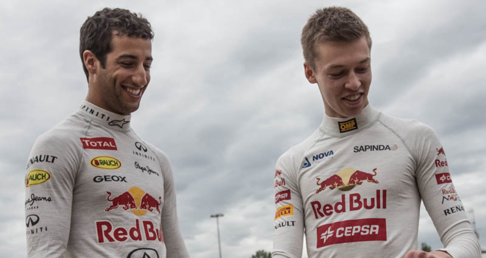 Daniel Ricciardo y Daniil Kvyat