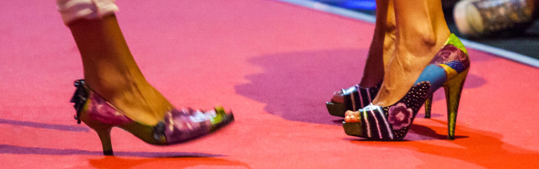Zapatos Pintados Desfile Portobello Rota