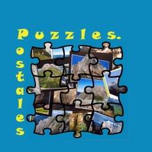 Puzzles y postales de Asturias.