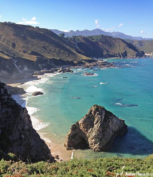 Cuevas Coloradas Beach Asturias