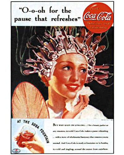 """9. Coca-Cola, """"The pause that refreshes"""".  D'Arcy Co., 1929."""