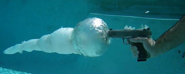 Disparo bajo el agua