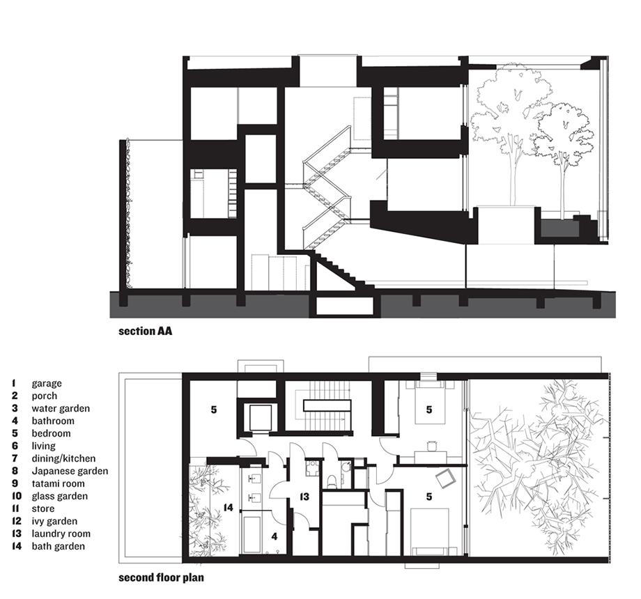 Hiroshi Nakamura Optical Glass House Nap Architect Floorplan 1 Jpg