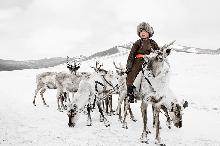 Tsaatan en Mongolie
