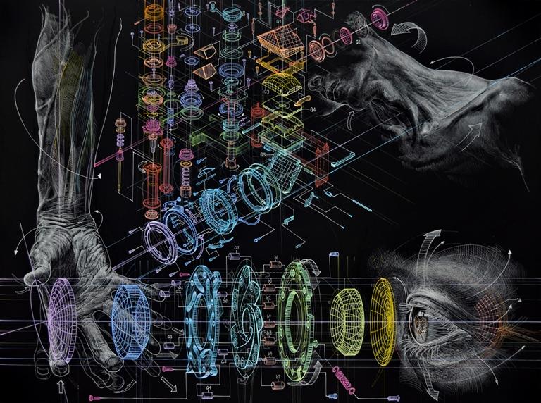 oil on canvas - Atsushi Koyama