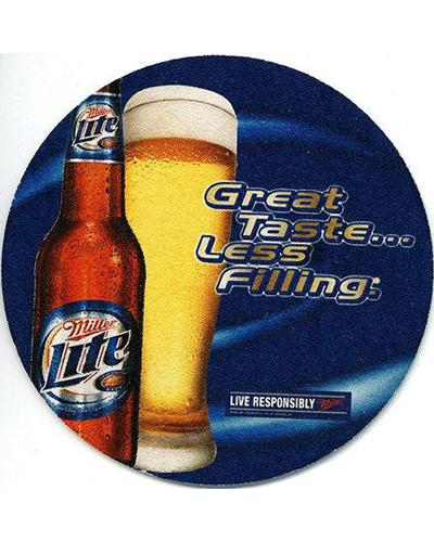 "17. Miller Lite, "" Tastes great, less filling"". 1974"