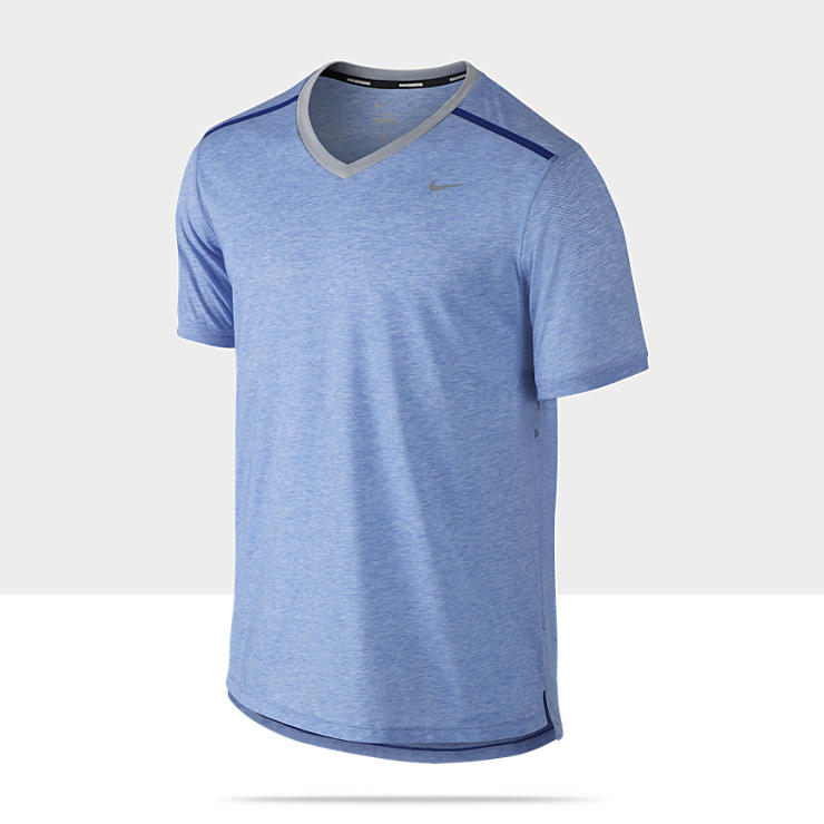 Nike Dri Fit Touch Tailwind Short Sleeve Mens Running Shirt 519767 490 A