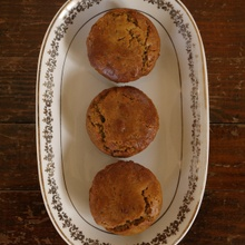 Muffins pois chiches, orange & amande