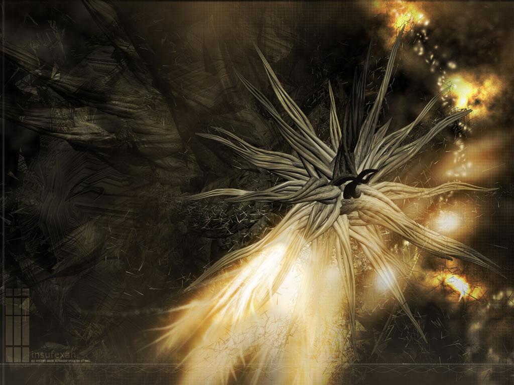 1210232688 1024x768 3d Alien Flower Picture