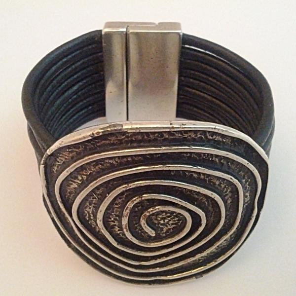 Pulsera Espiral Redonda Negro 2 Jpg