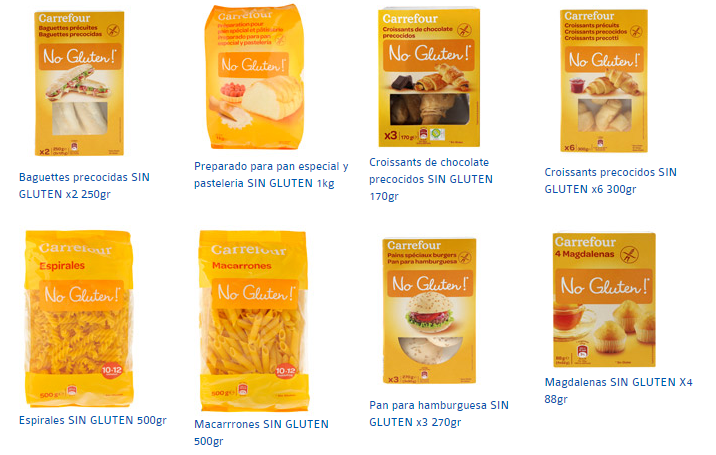 Productos Sin Gluten Carrefour