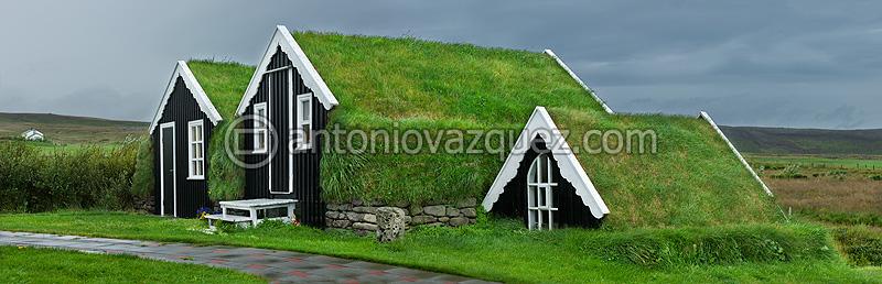 Casas tradicionales en la Península de Tjörnes