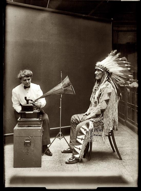 Grabando Canciones Nativas Americanas