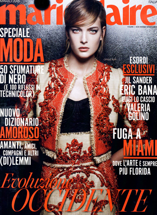 Marie Claire Italy March 2013 Cover In Dolce And Gabbana By Thierry Le Goues Vertical