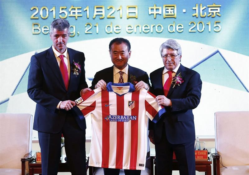 Atlético de Madrid sold 20% of its shares to Wanda Group