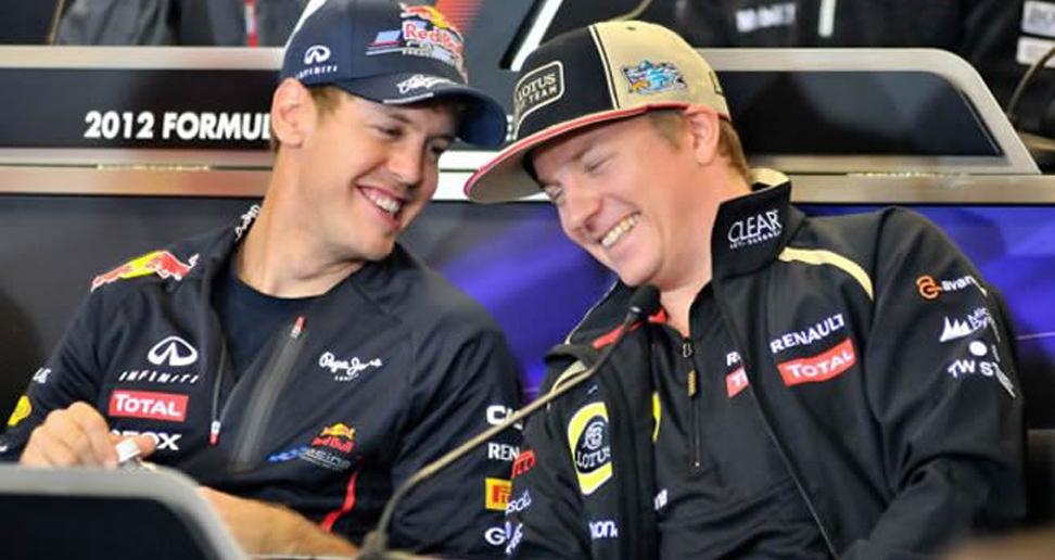 Sebastian Vettel y Kimi Raikkonen