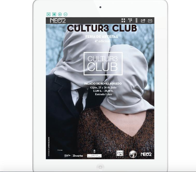 Anuncio en la versión ipad de la revista