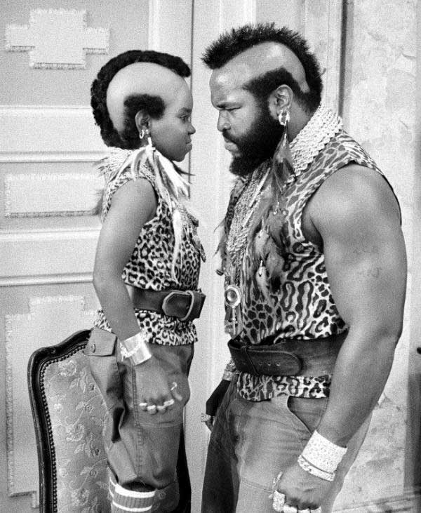 Gary Coleman And Mr T On The Set Of Different Strokes 1983