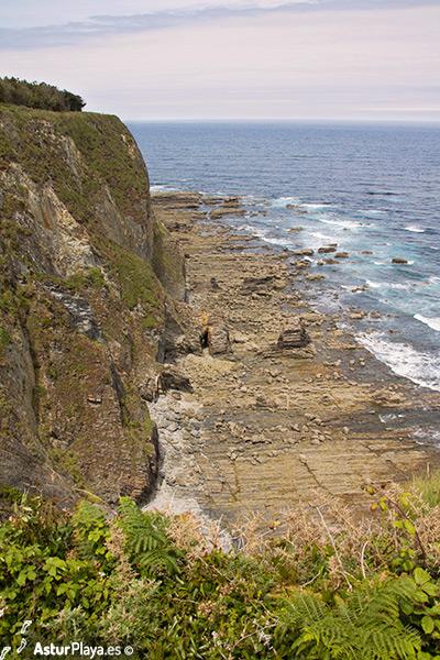 Boxada El Vino Beach Western Side Cape Busto Asturias