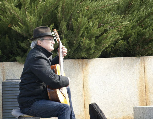 Photo: Graham Milldrum - A street performer in Madrid