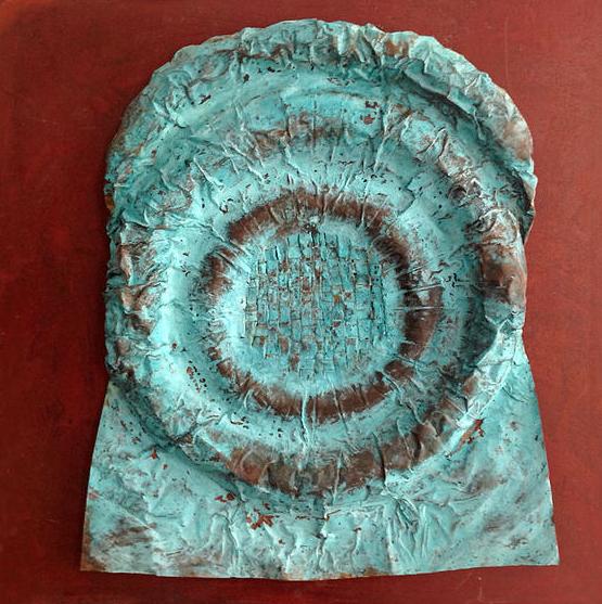 Tesoro Perdido. Cobre, óxido de cobre y hierro (50x50x3cm)