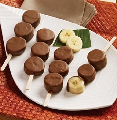 Brochetas De Platano Con Chocolate