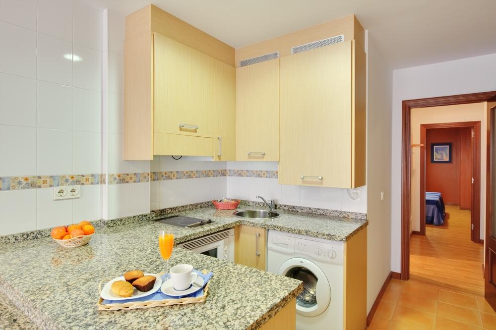 Cocina Americana Apartamentos Blue San Esteban Gijon