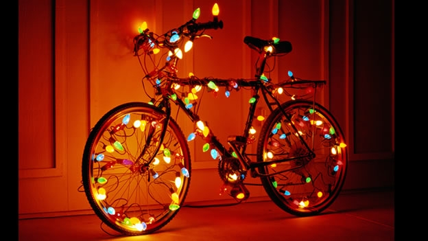 Bike Bicicleta Luces Serie Christmas Dangers Navidad Peligro Hazard