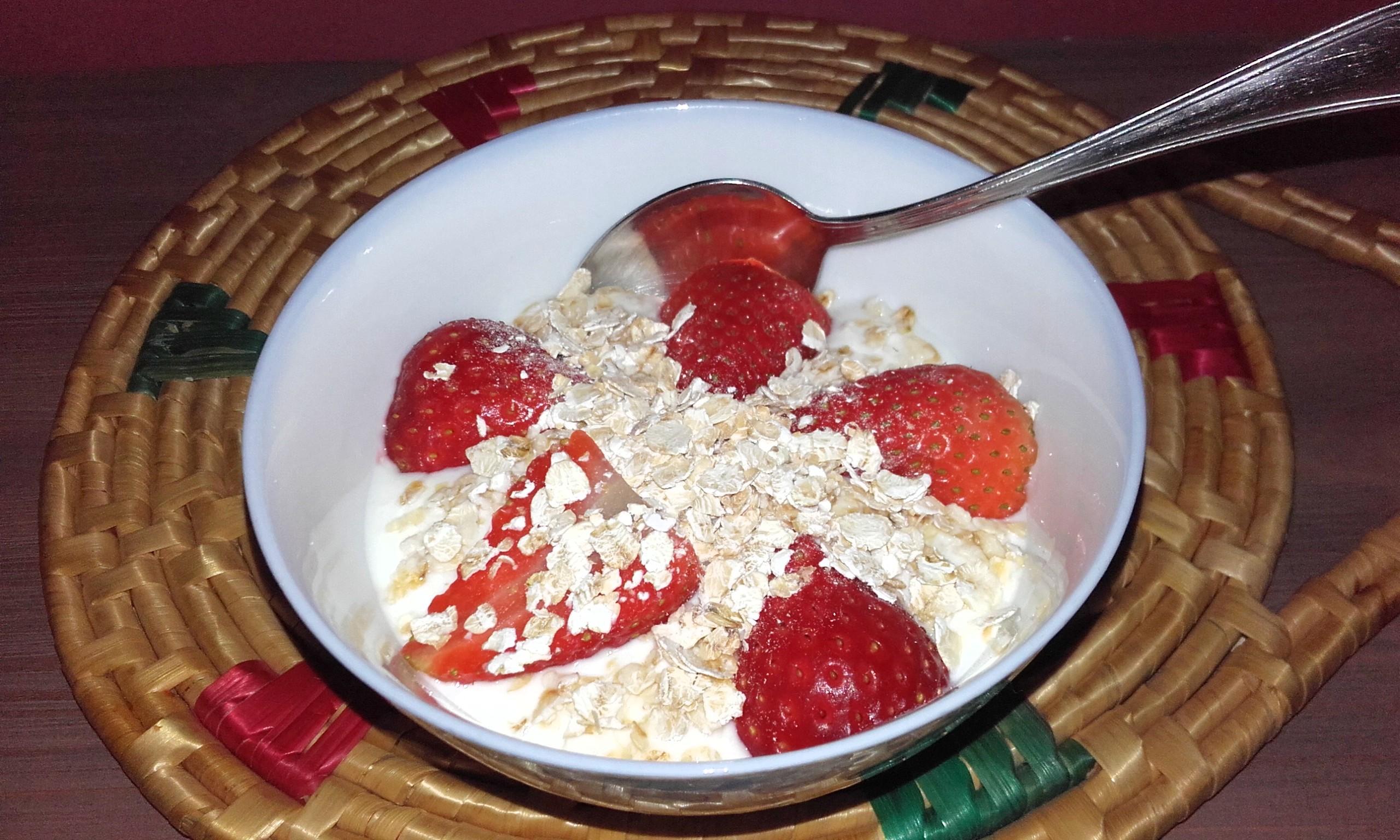 Yogurt Natural Fresas Avena Beqbe