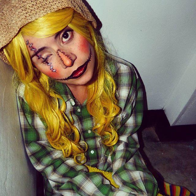 Maquillaje De Espantapajaros Happy Halloween Makeup And Photography Gizehmoonight Halloween Scarecrow Creepy Eyepatchlife Happyhalloween Halloweenmakeup Lol Crow Gamer