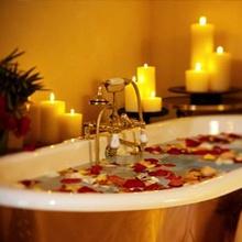 Prepara un baño romántico