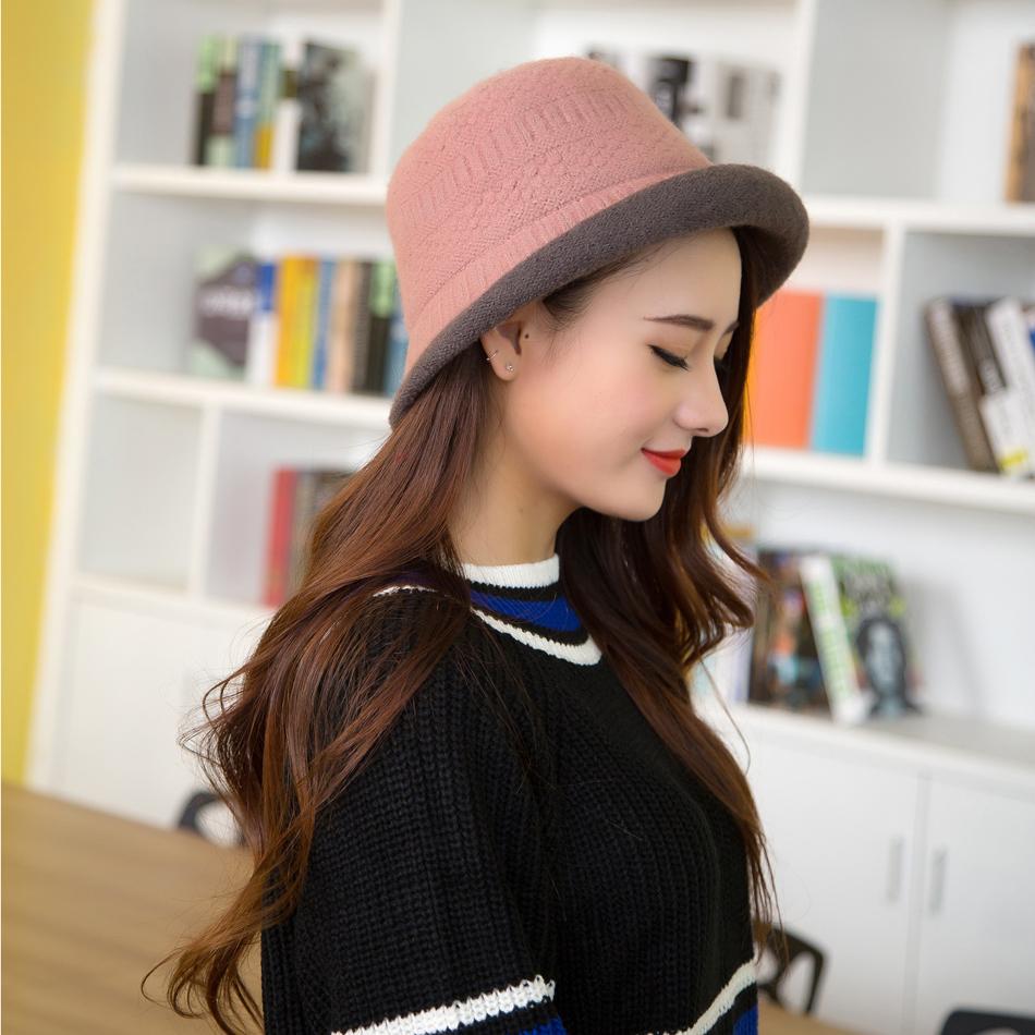 Elegante Sombrero De Mujer Otono Invierno Gorros De Punto Sombreros De Lana Para La Mujer De 1