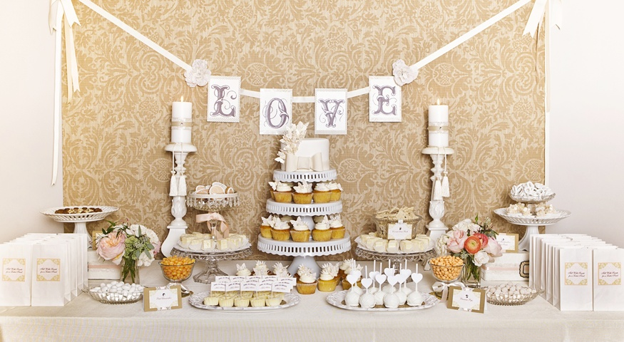 Sandra Downie Love Dessert Table