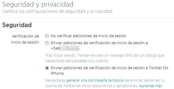 Enviar Peticiones De Verificacion De Inicio De Sesion De Twitter Al Iphone