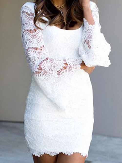 Pure White Backless Long Bell Sleeve Fitted Lace Dress 10008170 500x666 1