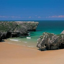 Cuevas del Mar Beach in Llanes, Asturias