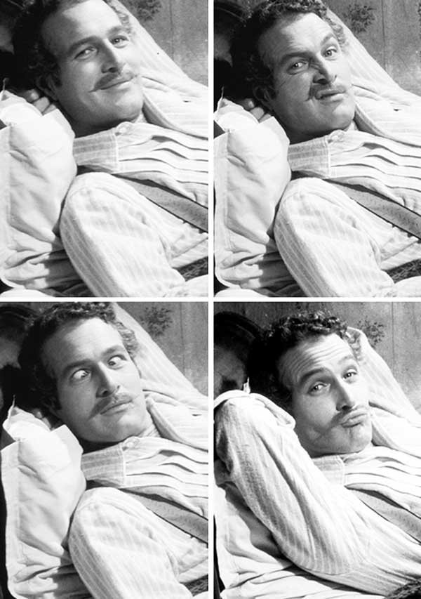 Paul Newman On The Set Of Lady L