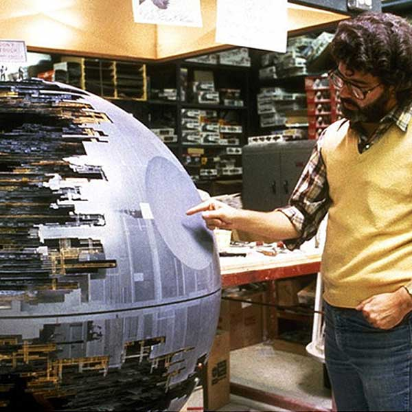 George Lucas With The Death Star
