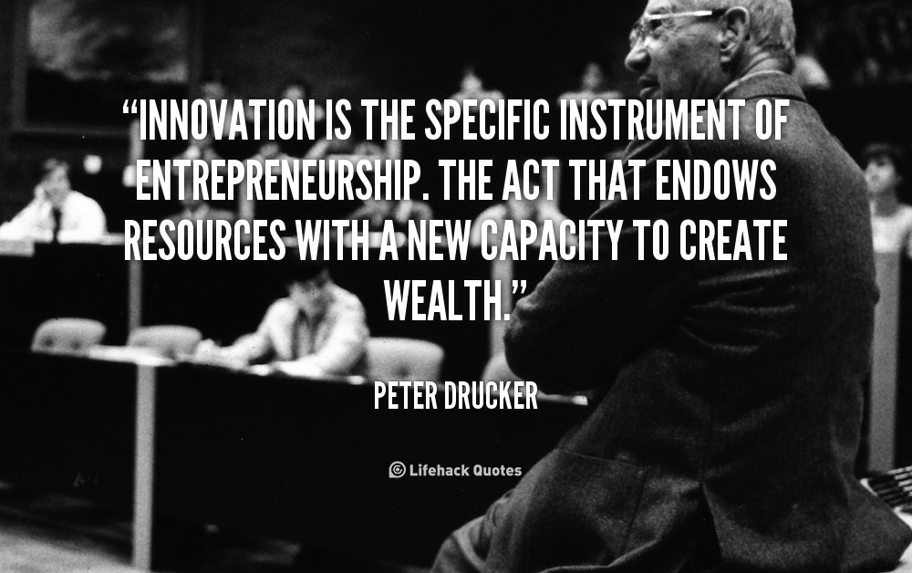 Quote Peter Drucker Innovation Is The Specific Instrument Of Entrepreneurship 91296