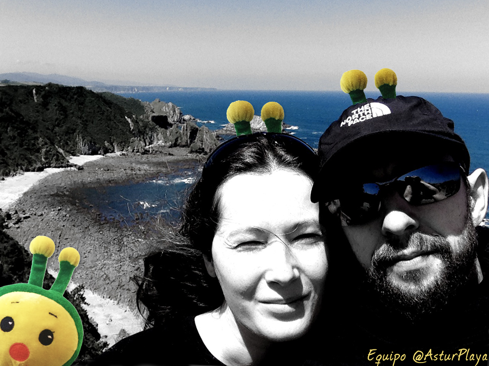 El equipo Asturplaya: Lucía y Dan
