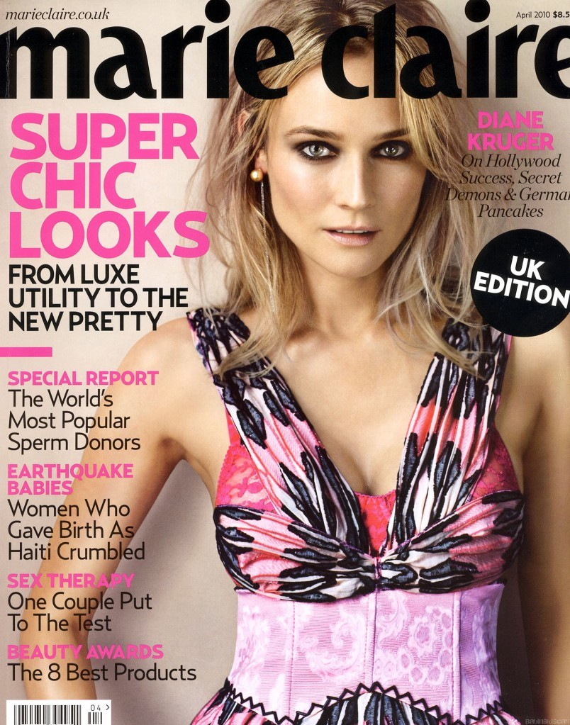 Diane Kruger Marie Claire Uk Cover 804x1023