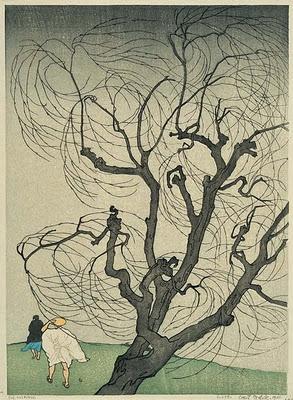 Ein Windsto 1901 Farbholzschnitt
