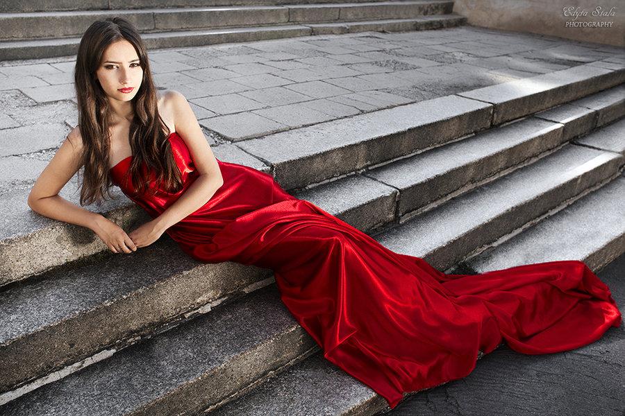 Lady In Red I By Edyta Stala D56fev0