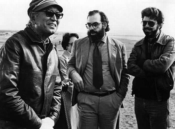 Akira Kurosawa Francis Ford Coppola And George Lucas On The Set Of Kagemusha