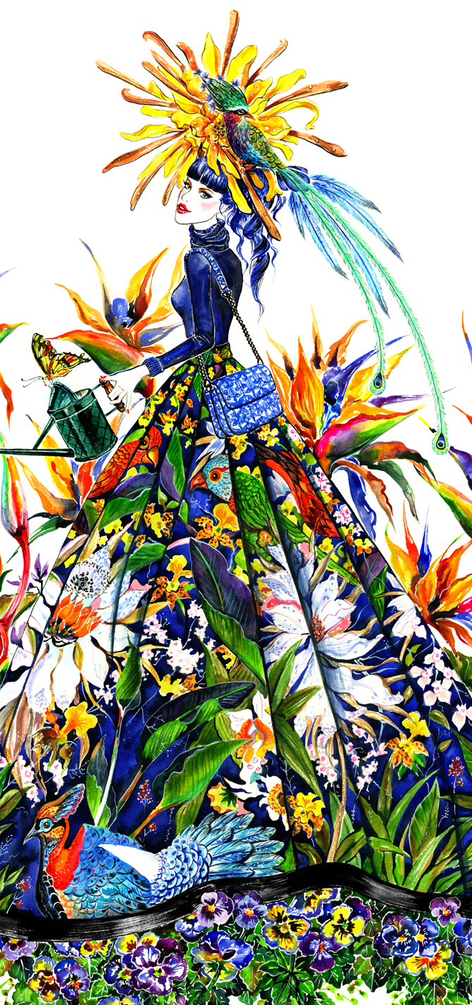 Sunnygu Garden Alice Olivia Detail