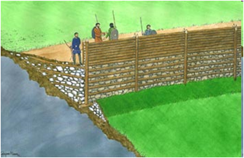 Recreaci N De La Muralla Abancalada Del Conjunto Del Hom N De Faro Asturias