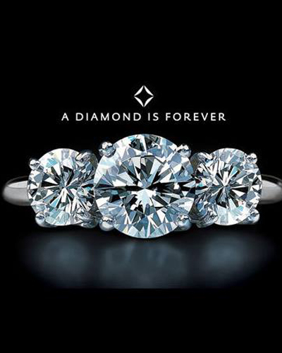 """3. Debeers, """"A diamond is forever"""". N.W. Ayer & Son, 1948"""