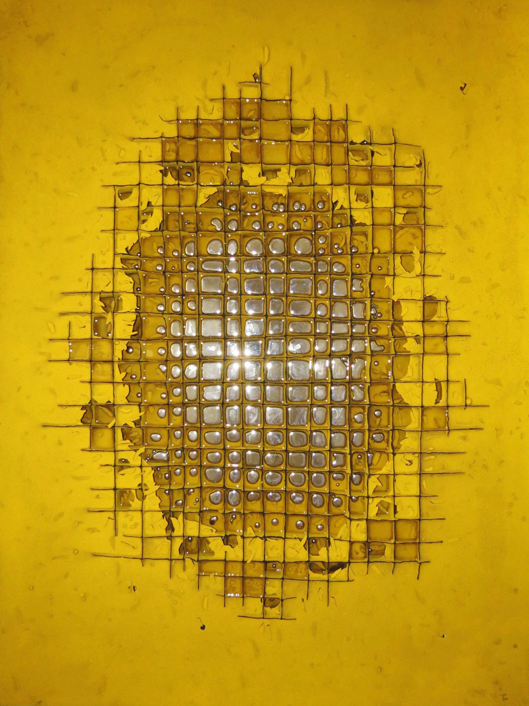 Mercurial Ii 130 X 100 Cm T Mixta Y Mercurio Encapsulado Sobre Tabla Ano 2013 30 Kg